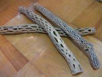 天然サボテンの骨(棒状) 細50cm